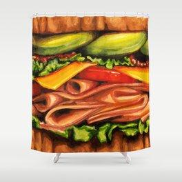 Sandwich- Turkey Bacon Avocado Shower Curtain