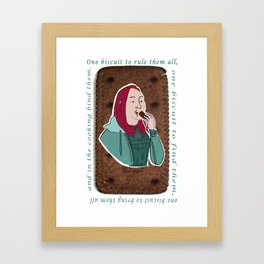 One biscuit to rule them all. Framed Art Print