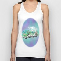 trex Tank Tops featuring weed trex by raulovsky (Raúl Ramos Melo)