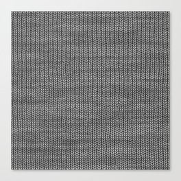 Antiallergenic Hand Knitted Grey Wool Pattern - Mix & Match with Simplicty of life Canvas Print