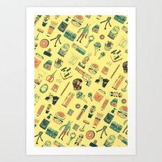 Object Diary Art Print