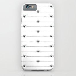 Eyeballs with half lashes iPhone Case