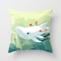 freeminds Throw Pillows featuring Nightbringer 2 by Freeminds
