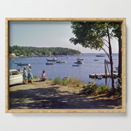 Marion Village in Rockport - Camden, Maine in the early 1960's, Retro Harbor Serving Tray