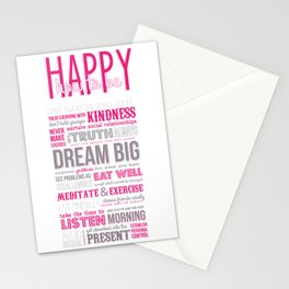 HOW TO BE HAPPY Stationery Cards