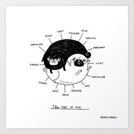 The Tao of Pug Art Print
