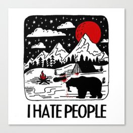 i-hate-people-t-shirt Canvas Print