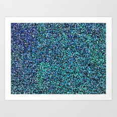 treemap mosaic - copper sulfate Art Print