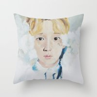 key Throw Pillows featuring Key  by Mika Codner