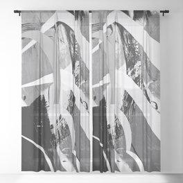 Moonlit Race Sheer Curtain