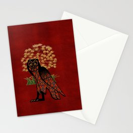 Owl Tapestry Stationery Cards