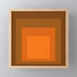 Block Colors - Orange Framed Mini Art Print
