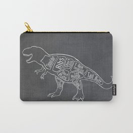 Tyrannosaurus, Rex Dinosaur (A.K.A. T REX) Butcher Meat Diagram Carry-All Pouch