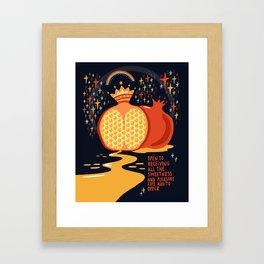 Opet to receiving pleasure Framed Art Print