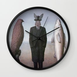 The presence of Rabbit Wall Clock
