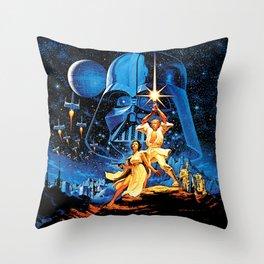 Space Opera Fantasy Throw Pillow