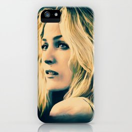 Gillian Anderson in oil olors iPhone Case