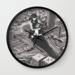 Card Game in the City Wall Clock