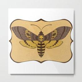 Death's Head Moth  Metal Print