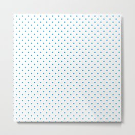 Domino sky blue dots pattern Metal Print