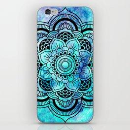 Galaxy Mandala Aqua Indigo iPhone Skin