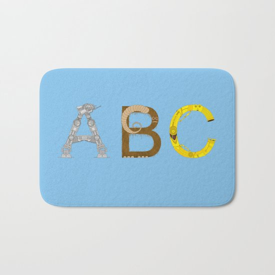 mAY BEE SEE be with you! (blue) Bath Mat