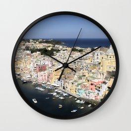 Procida Island, Italy Wall Clock