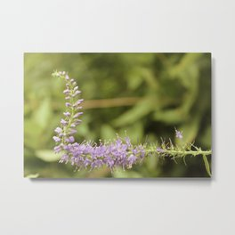 Purple Abstract Flower Vintage Metal Print