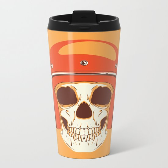 Helmet Skull Metal Travel Mug