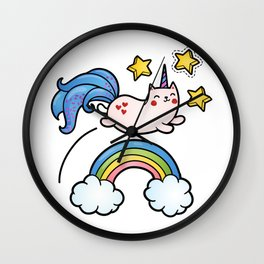 Cat Unicorn Wall Clock