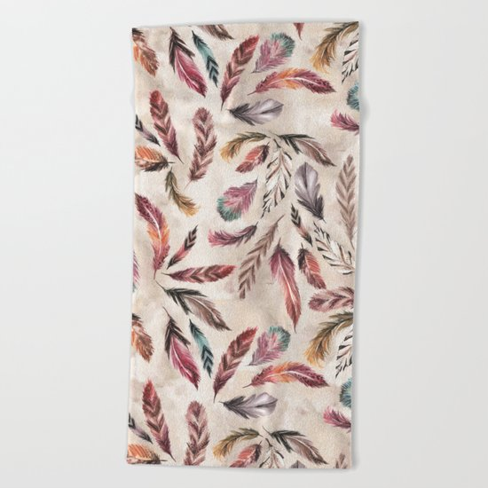 Feather Love Beach Towel