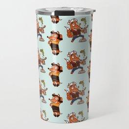 Popeye And Olive Fox Travel Mug