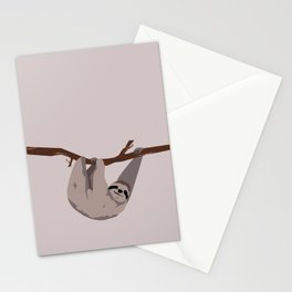 Sloth just hangin' Stationery Cards