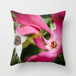 September red Throw Pillow