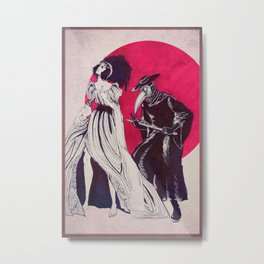Doctor & Sick Metal Print