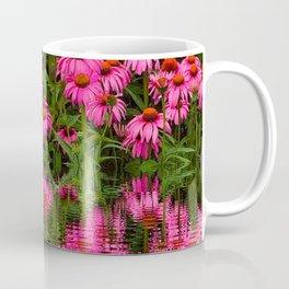 FUCHSIA-PINK ECHINACEA WATER GARDEN Coffee Mug