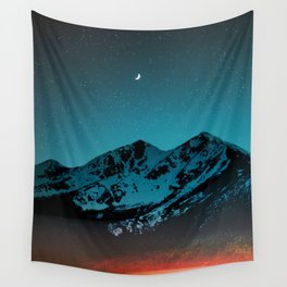 Mountains at night I // Boulder Colorado Wall Tapestry