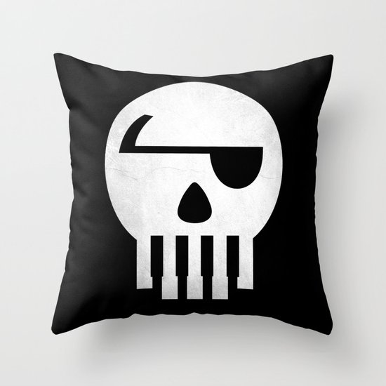Music Piracy Throw Pillow