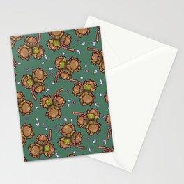 Crunchy nuts pattern Stationery Cards