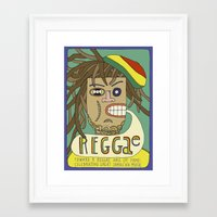 reggae Framed Art Prints featuring Reggae by Timea Koncz