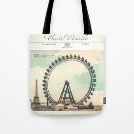 Paris Postcard #1 by Murray Bolesta Tote Bag