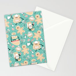 Baking Gingerbread - Retro Pastels Stationery Cards