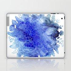 Blue Floral Pattern 03 Laptop & iPad Skin