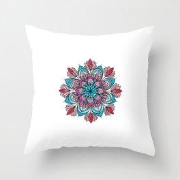 Mandala da Sorte Throw Pillow