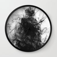 resident evil Wall Clocks featuring Evil by Nechifor Ionut
