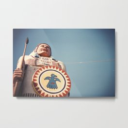 Native American Statue Metal Print