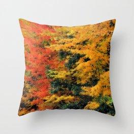 Massachusetts - Autumn Colors Throw Pillow