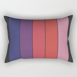 Five Colors and Black Rectangular Pillow