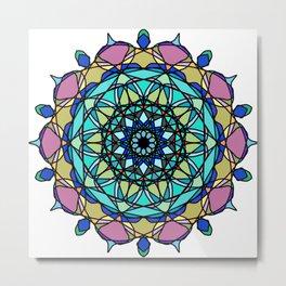 element colors ornamental mandala Metal Print