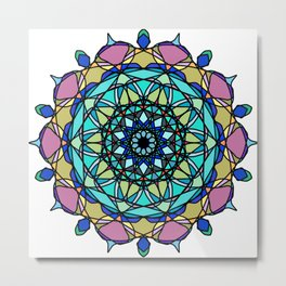 element colors ornamental mandala Metal Print